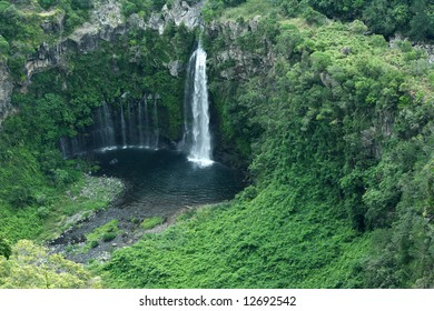 Waterfall at Reunion Island (Africa); French territory;