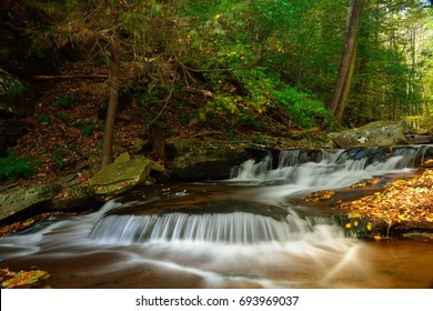 Waterfall in Rickets Glen State park, Pennsylvania