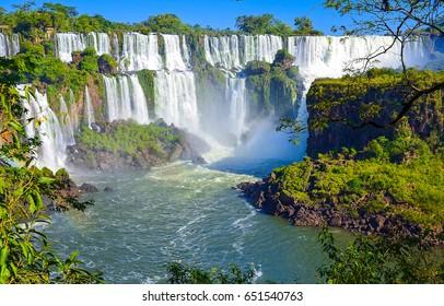 Waterfall river landscape