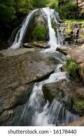 Waterfall at Roaring Run, Virginia.