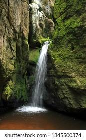 Waterfall in Rock Town, Adrspach, Teplice, Czech Republic