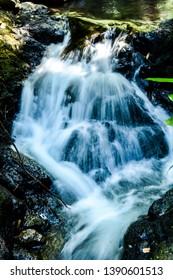 Waterfall, Running Water, Smooth, Twin Falls, Laguna, Mahayhay, Rocks, Travle, Swim, Natural Water, Stones, Flow, Current,