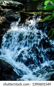 Waterfall, Running Water, Smooth, Twin Falls, Laguna, Mahayhay, Rocks, Travle, Swim, Natural Water, Stones, Flow, Current, Layers,