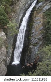 Waterfall in Samothraki island in Nothern Greece