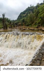 Waterfall in Sapa Village, North of Vietnam Mar 2017.