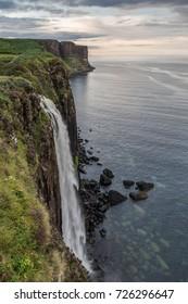 waterfall in the sea