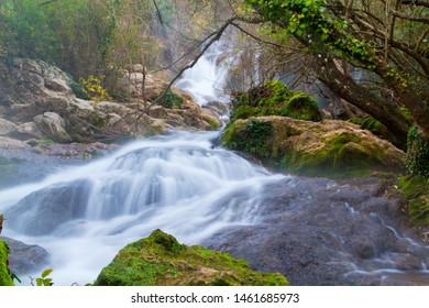 Waterfall with silk effect in Spain
