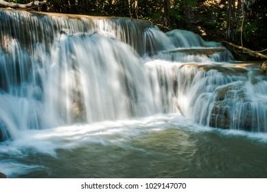 Waterfall slowly flow rate stream