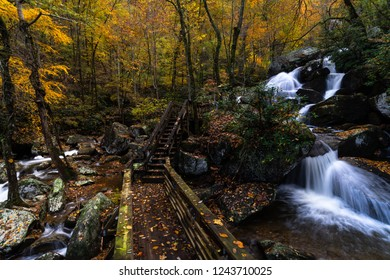 Waterfall at South Mountain State Park in Burke County, North Carolina
