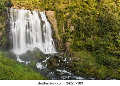 A waterfall in southern New Zealand