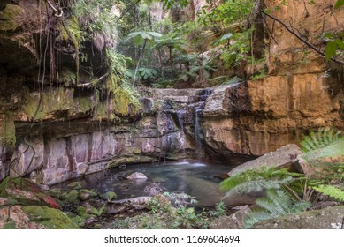 The waterfall from the spring in the Moss Garden, Carnarvon Gorge, Queensland, Australia.