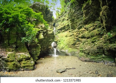 The Waterfall at St Nectan's Glen near Boscastle, Cornwall UK