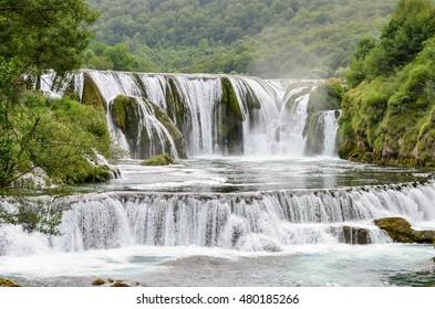 Waterfall Strbacki Buk on Una river in Bihac - Bosnia and Herzegovina