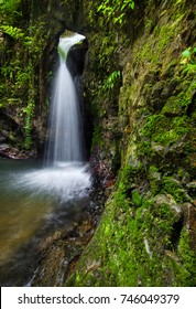 Waterfall Sungai Ruok at Belum Forest, Perak, Malaysia. Soft focus due to long exposure.