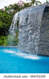 Swimming Pool Waterfall Images, Stock Photos & Vectors | Shutterstock