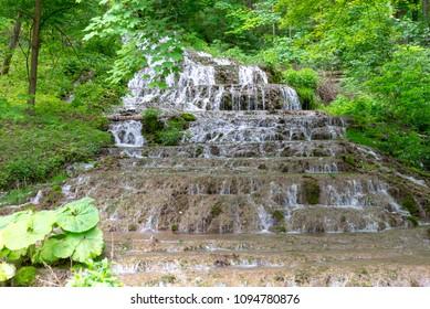 Waterfall in Szalajka valley in beech mountains near Szilvasvarad, Hungary