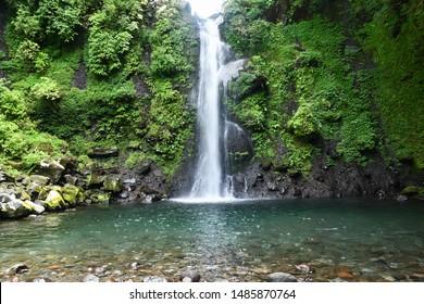 Waterfall of tea plantation oodana in Shimizu city