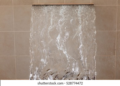 Waterfall and texture of falling water