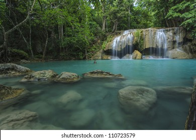 Waterfall in thai national park