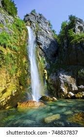 Waterfall in Theth Albania