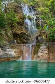 Waterfall in Tolantongo .Grutas Tolantongo, Hidalgo. Mexico