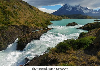 Waterfall in Torres del Paine National Park