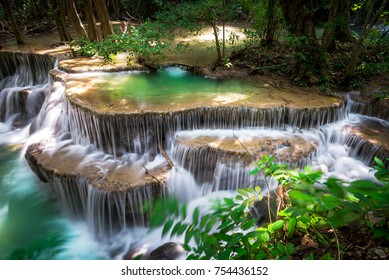 waterfall at tropical forest, Thailand