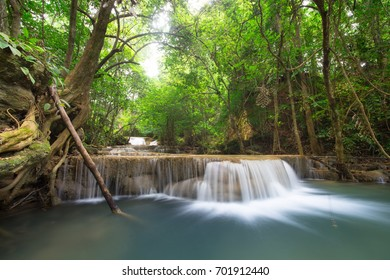waterfall in tropical rain forest