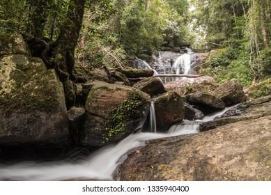 Waterfall in UNESCO heritage listed Sinharaja Rainforest in Sri Lanka