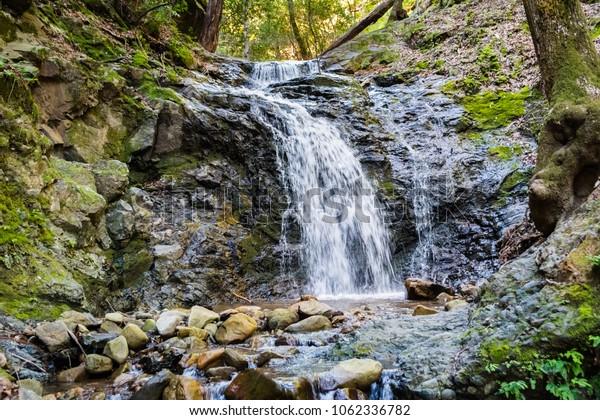 Waterfall in Uvas Canyon County Park, Santa Clara county, California; long exposure