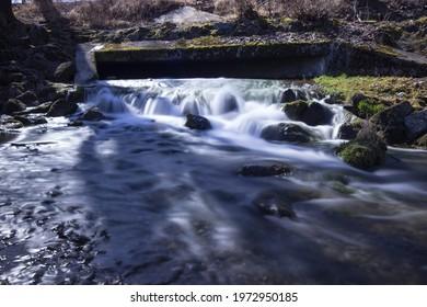 waterfall web River Blue glass sphere Natur Landschaft