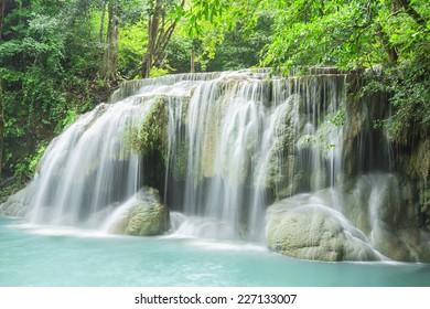 waterfall in west of Thailand (Erawan waterfall)
