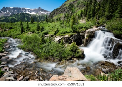 Waterfall at Yankee Boy Basin, near Ouray Colorado