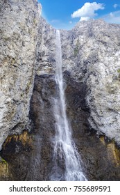 Waterfall from the Yellowstone River in Yellowstone National Park