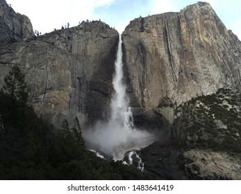 Waterfall at Yosemite Falls in Yosemite National Park