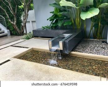 Waterfall in the zen garden