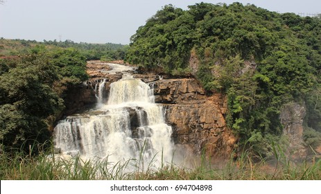 Waterfall in Zongo. Democratic Republic of Congo.