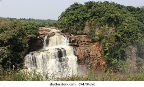 Waterfall in Zongo. Democratic Republic of Congo.