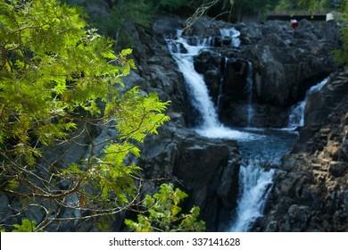 Waterfall/Falling/Split Rock Falls, a hidden waterfall in the Adirondack Mountains in New York.