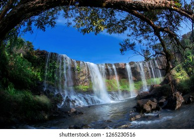 Waterfall-Mo. Beautiful and majestic waterfalls in the Central Highlands. in Gialai province- vietnam