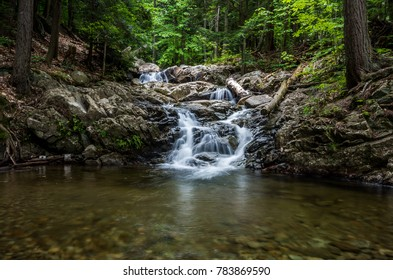 Waterfalls along Stag Brook Trail in on whiteface Mountain in Wilmington NY