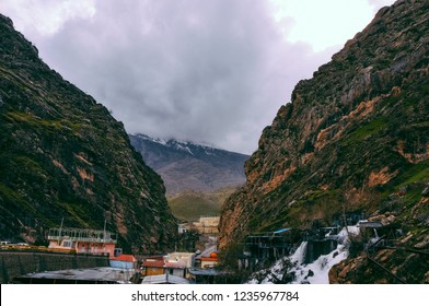 Waterfalls and beautiful mountains in northern Iraq