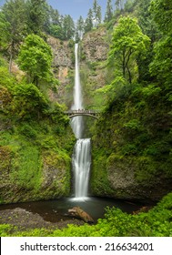 Waterfalls in the Columbia River Gorge near Portland Oregon.