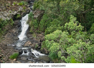 A waterfalls and creek in Queensland in Australia