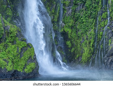 Waterfalls at Fiordland National Park New Zealand