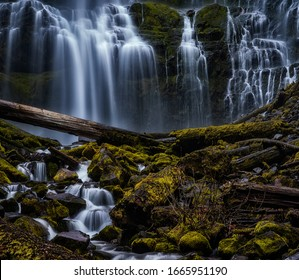 Waterfalls flowing through the forest