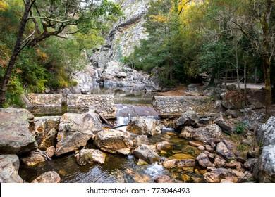 Waterfalls in Fragas de São Simão (St. Simon crags),Region Figueiró dos Vinhos - Portugal.