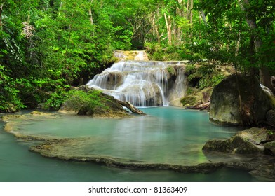 Waterfalls in Green Forests