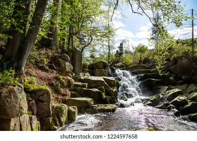 Waterfalls in the Harz mountains, nice Hiking weather