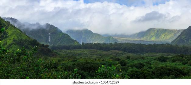 Waterfalls in Hawaii Island, USA